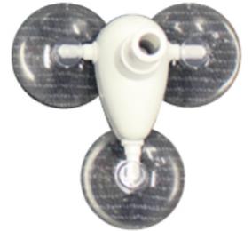 飛沫防止ビニールシートの吸盤