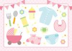 赤ちゃん用品のイラスト