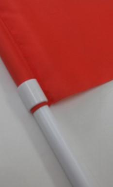 手旗の布と棒のアップ